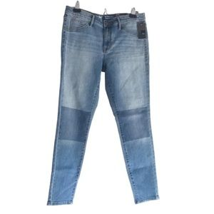 MOSSIMO Mid-Rise Jegging Power Stretch Patch Look